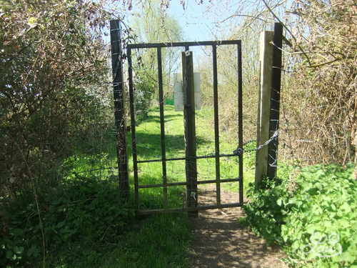 Closed gate